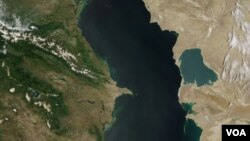Caspian Sea satellite