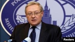 Deputi Menteri Luar Negeri Rusia, Sergei Ryabkov mendamprat kecaman AS (foto: dok).