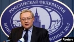 FILE - Deputy Foreign Minister Sergei Ryabkov.