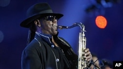 Clarence Clemons during a performance in February of 2009