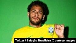 Neymar avec le maillot numéro 10 de la Seleçao, 16 juin 2018. (Twitter/ Seleção Brasileira)