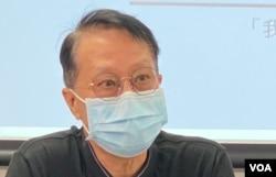 前社福界立法会议员张国柱 (美国之音/汤惠芸)
