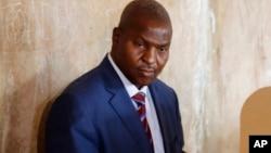 Faustin Archange Touadéra, le président élu de la Centrafrique, le 14 février 2016.