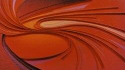"""Fluid Dynamics"" by Tina York, 1995, mixed media"