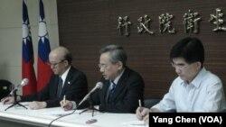 台湾卫生署记者会(美国之音杨晨拍摄)