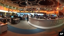 Al Jazeera à Doha, au Qatar le 8 juin 2017.