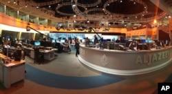Trụ sở Đài truyền hình Al Jazeera tại Doha, Qatar, ngày 8/6/2017.