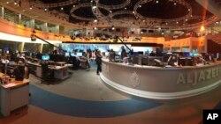 아랍권 나라들이 폐쇄를 요구한 카타르 알자지라 방송의 스튜디오 (자료사진)