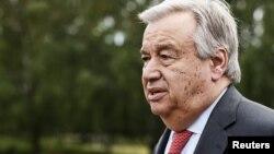 U.N. Secretary-General Antonio Guterres attends talks in Naantali, Finland, June 18, 2018.