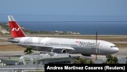 Российский Boeing на стоянке аэропорта Майкетии, Венесуэла, 29 января