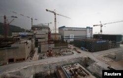 2013年10月17日,正在建设的广东台山核电站