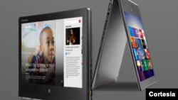 La nueva Lenovo Yoga Pro 3 de Microsoft puede verse y utilizarse prácticamente en cualquier posición.