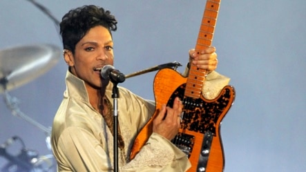 U.S. musician Prince performs for the first time in Britain since 2007 at the Hop Farm Festival near Paddock Wood, southern England, July 3, 2011.