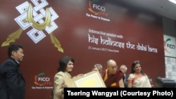 Dalai Lama Addresses Members of Indian Business Women's Association in Delhi