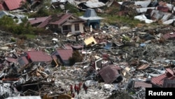 An aerial view of the destruction caused by an earthquake and liquefaction in the Petabo neighborhood in Palu, Central Sulawesi, Indonesia, Oct. 7, 2018.