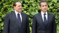 سیلویو برلوسکونی، نخست وزیر ایتالیا روز سه شنبه در یک کنفرانس خبری با نیکولا سارکوزی، رییس جمهوری فرانسه گفت درگیری ایتالیا به کمک به حمله به هدف های نظامی محدود خواهد بود - سه شنبه ۲۶ آوریل ۲۰۱۱