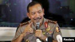 Начальник індонезійської поліції Бадродін Гаіті під час зустрічі з пресою