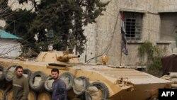 В одном из пригородов Дамаска. 15 фераля 2012 г.