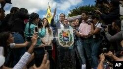베네수엘라 임시정부 지도자 후안 과이도 국회의장