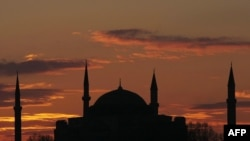 The Hagia Sophia is one of Istanbul's most famous buildings.