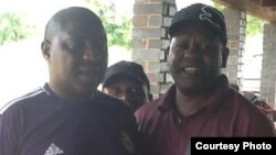 The late Willard Mashinkila Khumalo with Ezra 'Tshsa' Sibanda