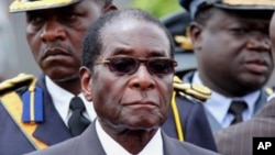Le président Robert Mugabe du Zimbabwe,