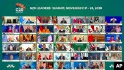 La pandémie de Covid-19 était à l'ordre du jour du sommet virtuel du G20 ce week-end. L'Arabie Saoudite était le pays hôte. Photo prise le samedi 21 novembre 2020.