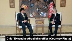 Afghanistan's Chief Executive Abdullah Abdullah hosted Pakistan's National Security Adviser Nasser Janjua in Kabul, March 17, 2018.