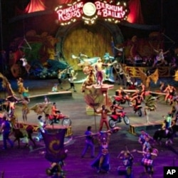 Ringling Brothers and Barnum & Bailey Circus performers and crew live and travel on a train 11 months out of the year.