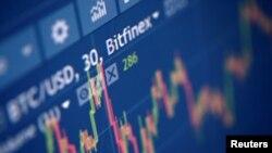 FILE - Photo illustration of Bitfinex cryptocurrency exchange website taken Sept. 27, 2017.