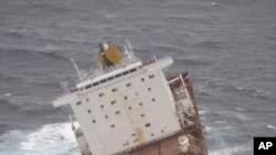O cargueiro Rena pode provocar o maior desastre ecológico até hoje registado na costa da Nova Zelândia