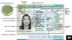 美國公民及移民事務局提供的最新綠卡版本