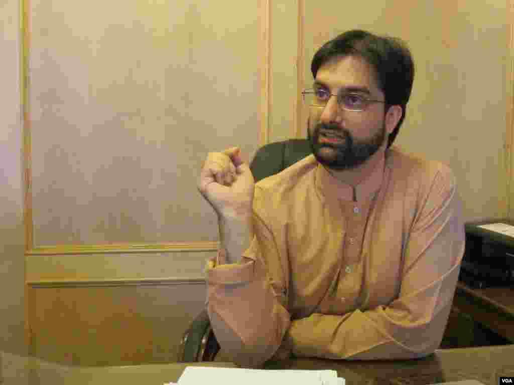 All Parties Hurriyat Conference Chair Mirwaiz Umar Farooq. (Aru Pande/VOA)