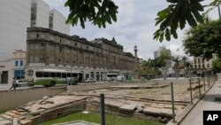 Les ruines du quai de Valongo, Rio de Janeiro, le 26 novembre 2015