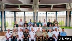 美軍印太司令部2018年9月11日召集各國軍事將領會議。(美國海軍照片)
