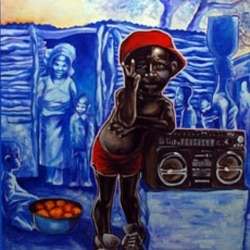 """The artist's favorite painting, """"Hip-Hop Africa"""""""