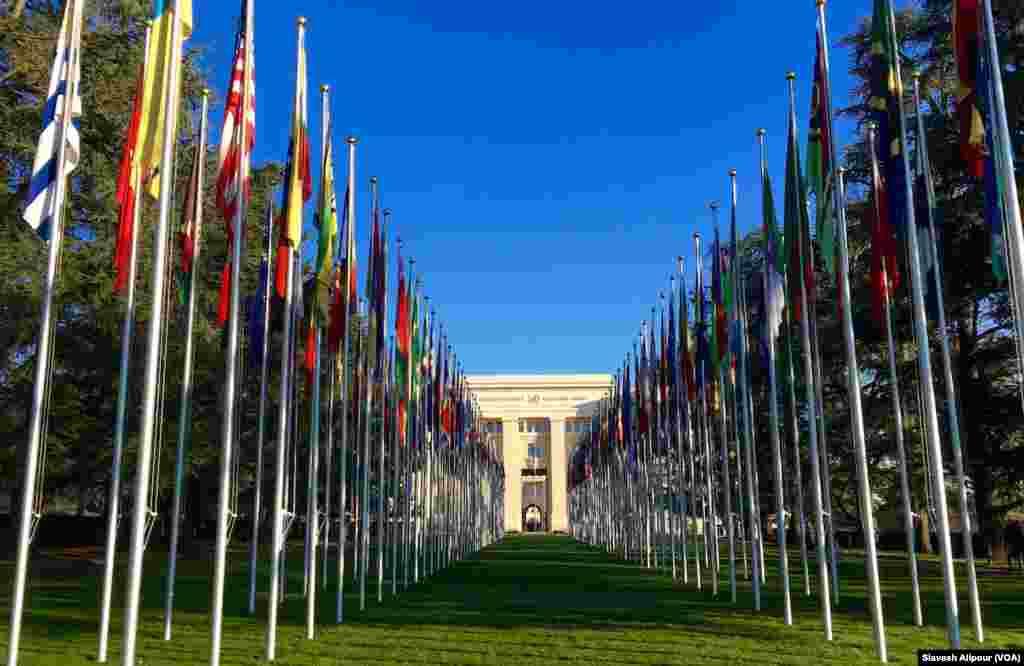 ساختمان سازمان ملل متحد در شهر ژنو