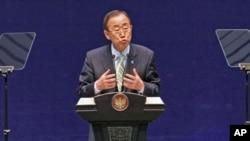 联合国秘书长潘基文3月21日在雅加达