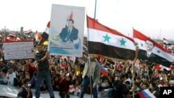 Syrian pro-regime demonstrators in Tartus, Syria, 30 Nov 2011