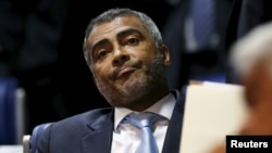 "Former Brazil striker and current senator Romario, pictured at the Brazilian Federal Senate in Brasilia, applauded U.S. efforts to crack down on alleged corruption within FIFA, saying, 'Thieves have to go to jail,"" May 27, 2015."