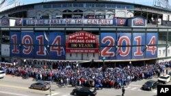 El diamante de Chicago cumple cien años de historia, desde su fundación en 1914, el año de la Primera Guerra Mundial.