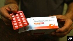 Obat malaria hidroksiklorokuindi New Delhi, India, 9 April 2020. (Foto: dok).