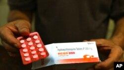 Một vĩ thuốc hydroxychloroquine.