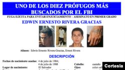 Edwin Rivera Gracias podría estar en El Salvador o en EE.UU. con documentos falsos.