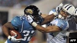 Detalj sa utakmice NFL timova Tensi Tajtansa i Džeksonvil Džeguarsa