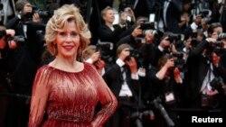 Jane Fonda lors de la cérémonie d'ouverture du 67e Festival de Cannes, le 14 mai 2014.