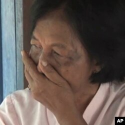 Pol Yum, who accuses her cousin Som Chhorm of being head of the local Khmer Rouge cooperative, says she is still afraid of him