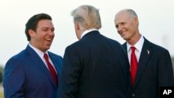 Los candidatos de Donald Trump, Ron DeSantis y Rick Scott ganaron la carrera en las elecciones de medio término de 2018.