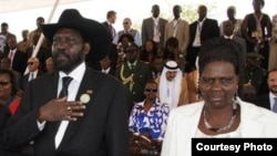 South Sudan President Salva Kiir and first lady Mary Ayen Mayardit. (L. Lomayat/South Sudan president's office)