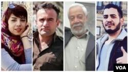 از راست: امیرحسین مرادی، هاشم خواستار، امید محمدزاده، و افسانه عظیمزاده
